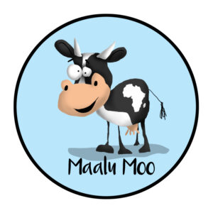 Maalu Moo -Illustrated Logo design