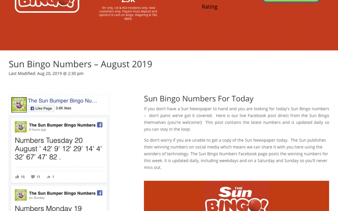 sun bingo page screen grab